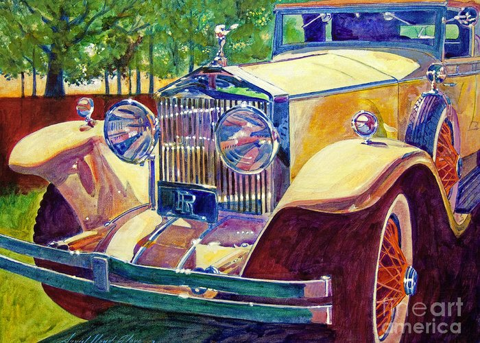 Autos Greeting Card featuring the painting The Great Gatsby by David Lloyd Glover