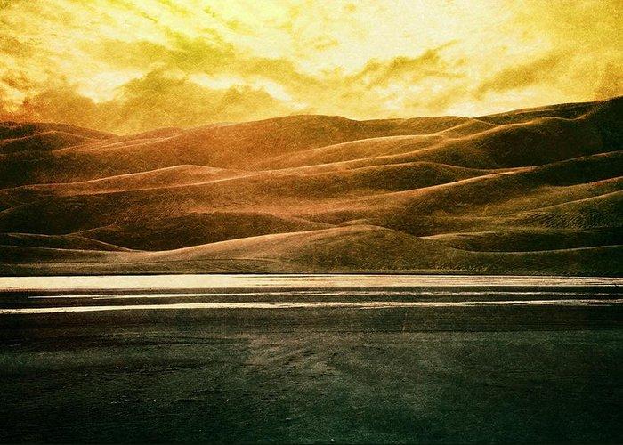 Brett Greeting Card featuring the digital art The Great Sand Dunes by Brett Pfister