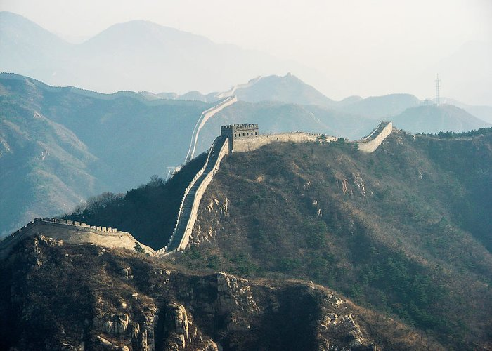 China Greeting Card featuring the photograph The Great Wall by David Mortenson