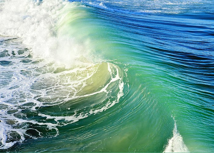 Waves Greeting Card featuring the photograph The Great Wave by Laura Fasulo