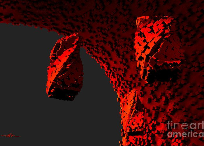 Cavern Greeting Card featuring the digital art The Grim Leaper by William Ladson