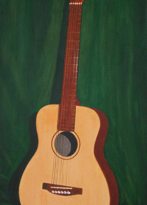 Guitar Greeting Card featuring the painting The Guitar by Jimmie Bartlett