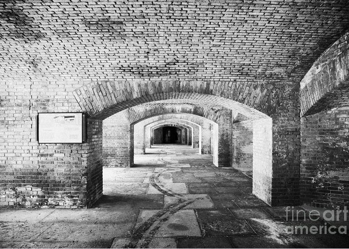 Fort Greeting Card featuring the photograph The Gunrooms In Fort Jefferson Dry Tortugas National Park Florida Keys Usa by Joe Fox