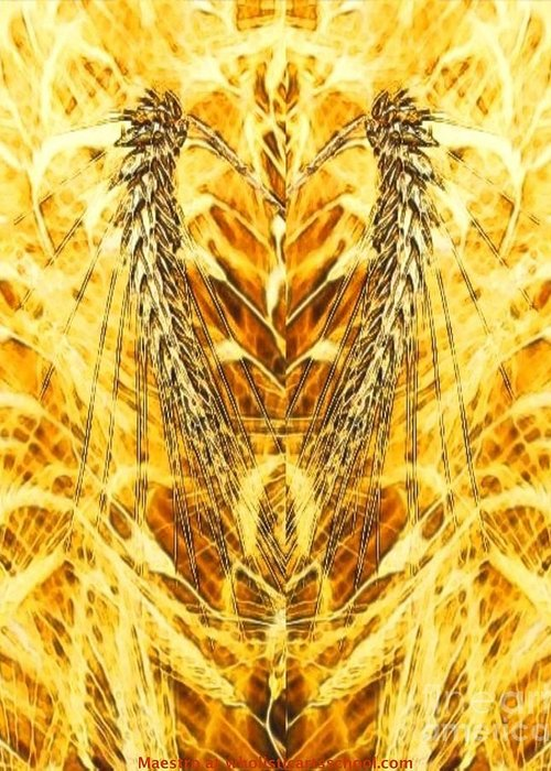 The Harvest Is Plentiful The Laborers Are Few Greeting Card featuring the digital art The Harvest Is Plentiful The Laborers Are Few by PainterArtist FIN