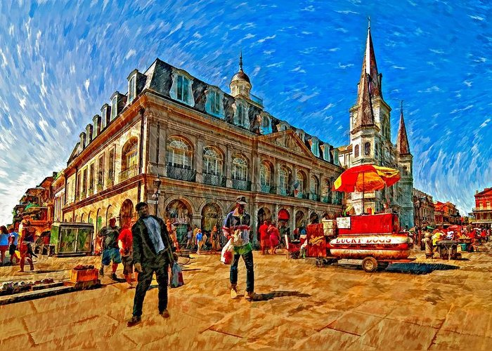 French Quarter Greeting Card featuring the photograph The Heart Of New Orleans by Steve Harrington