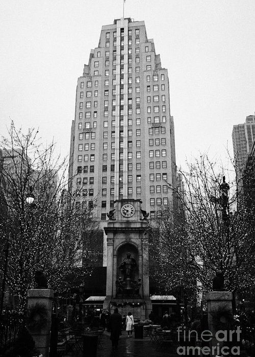 Usa Greeting Card featuring the photograph The Herald Square Building In The Rain Herald Square Broadway And 6th Avenue New York City Nyc by Joe Fox
