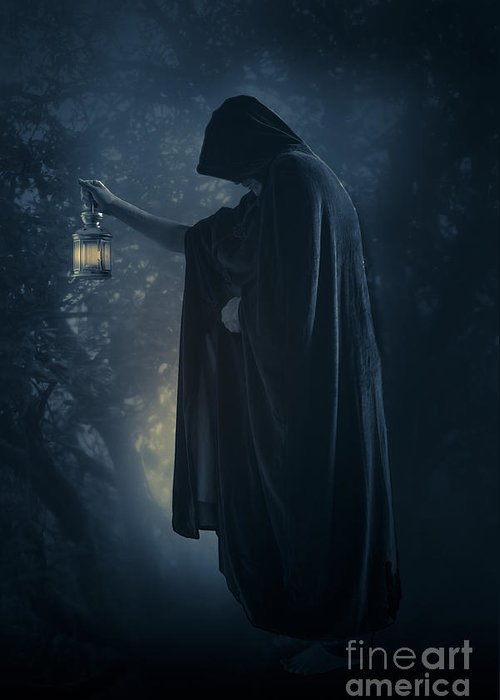 Arcane Greeting Card featuring the photograph The Hermit by Wolf Kettler