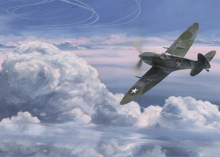 Spitfire Greeting Card featuring the painting The High Country by Wade Meyers