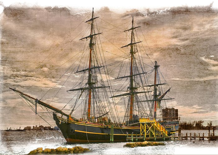 Boats Greeting Card featuring the photograph The Hms Bounty by Debra and Dave Vanderlaan