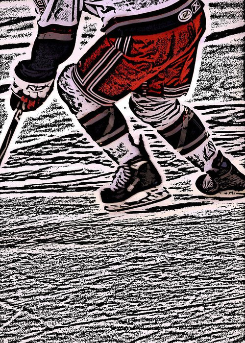 Hockey Greeting Card featuring the photograph The Hockey Player by Karol Livote