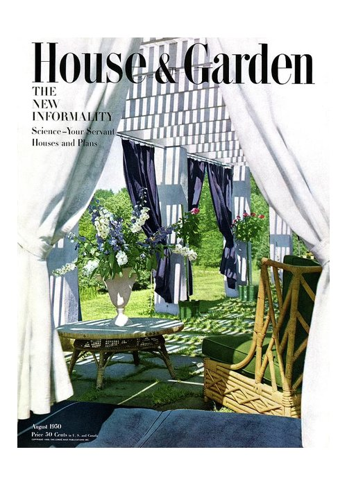 House And Garden Greeting Card featuring the photograph The Horsts Garden by Horst P. Horst