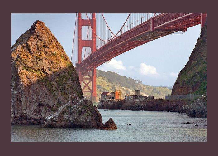 Bridge Greeting Card featuring the photograph The House Below The Golden Gate Bridge by Daniel Furon