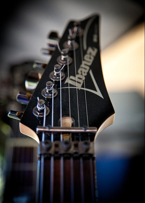 The Ibanez Guitar Greeting Card featuring the photograph The Ibanez Guitar by David Patterson