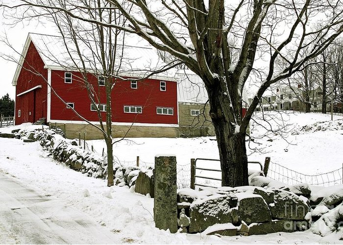 Maine Greeting Card featuring the photograph The Inn by Laura Mace Rand