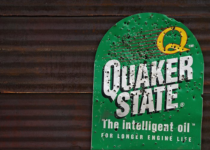 Quaker State Greeting Card featuring the photograph The Intelligent Oil by Murray Bloom