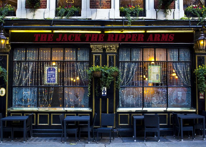 Pub Greeting Card featuring the photograph The Jack The Ripper Pub by David Pyatt
