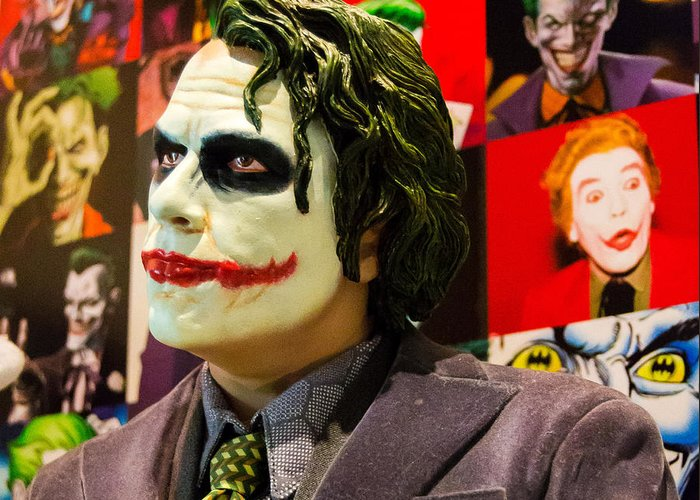 The joker greeting card for sale by ismael roman the joker greeting card featuring the photograph the joker by ismael roman m4hsunfo