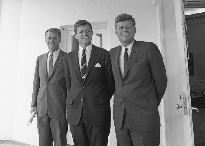 Jfk Greeting Card featuring the photograph The Kennedy Brothers by War Is Hell Store