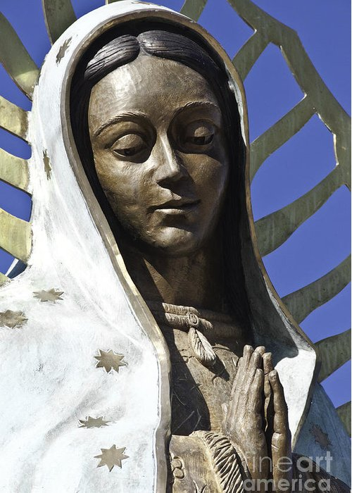 Lady Greeting Card featuring the photograph The Lady Prays by Terry Rowe