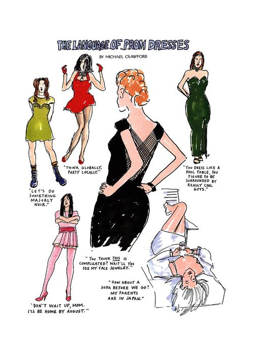 Strapless Dress Drawings Greeting Cards