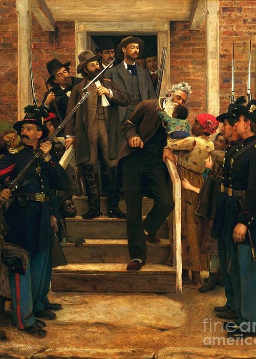 Pd Greeting Card featuring the painting The Last Moments Of John Brown by Pg Reproductions