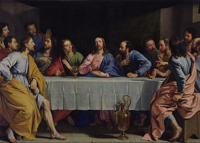 Last Supper Photographs Greeting Cards