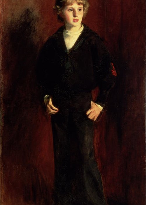 Youth Greeting Card featuring the painting The Late Major E.c. Harrison As A Boy by John Singer Sargent