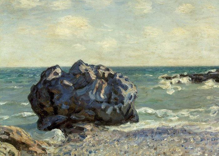 Art Greeting Card featuring the painting The Laugland Bay by Alfred Sisley