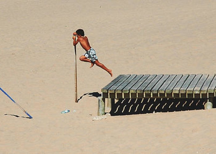 Guincho Greeting Card featuring the photograph The Leap by Luis Esteves
