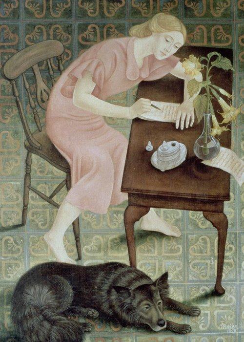 Lino Paintings Greeting Cards