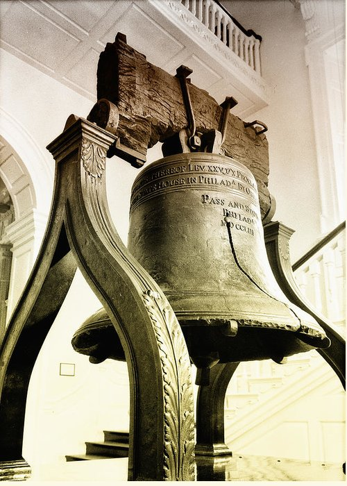 The Liberty Bell Greeting Card featuring the photograph The Liberty Bell by Bill Cannon