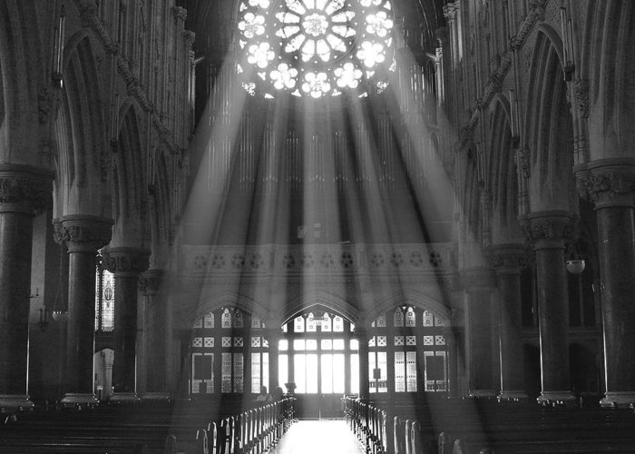 Cathedral Greeting Card featuring the photograph The Light - Ireland by Mike McGlothlen