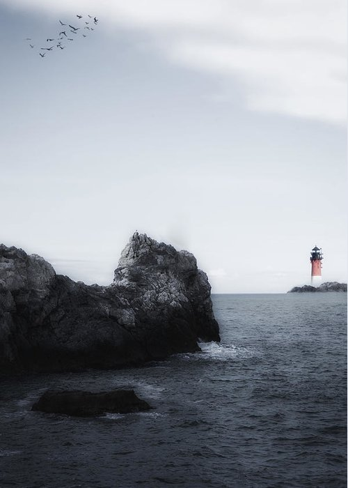 Sea Greeting Card featuring the photograph The Lighthouse by Joana Kruse