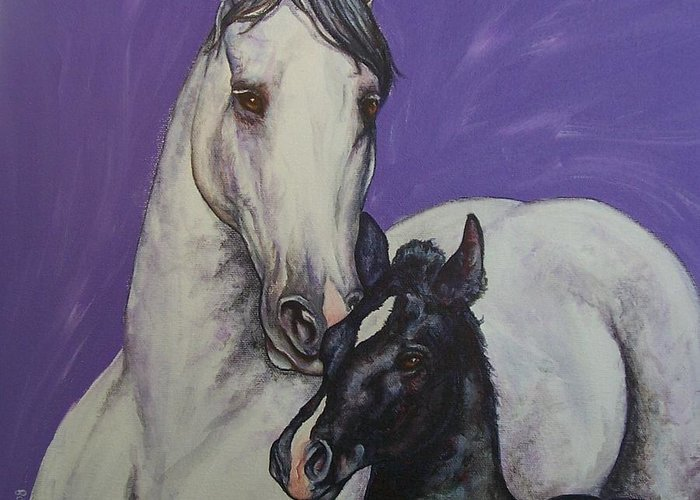 Horse Greeting Card featuring the painting The Little Prince by Beth Clark-McDonal