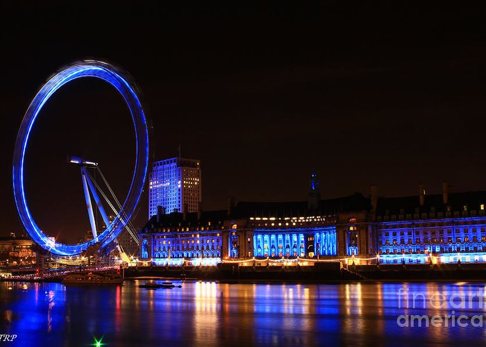 London Greeting Card featuring the photograph The London Eye by Size X