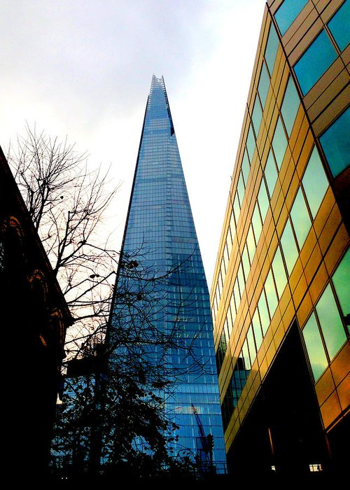 London Greeting Card featuring the photograph The London Shard In Blue No2 by Gordon James