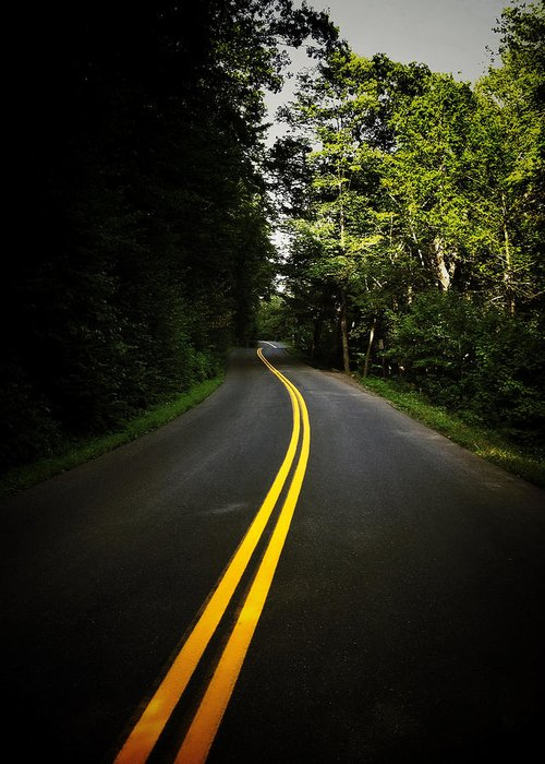 Road Greeting Card featuring the photograph The Long And Winding Road by Natasha Marco