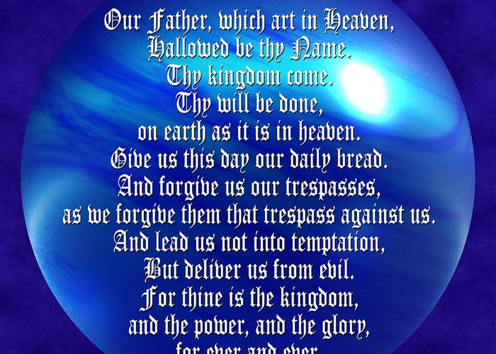 Teach Us To Pray Greeting Card featuring the photograph The Lords Prayer by Daryl Macintyre