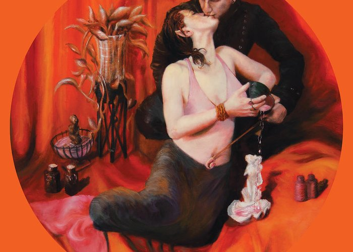 Shelley Irish Greeting Card featuring the painting The Lovers by Shelley Irish