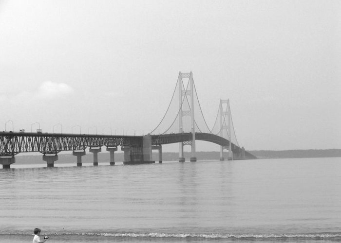 Bridge Greeting Card featuring the photograph The Mac by Jennifer King