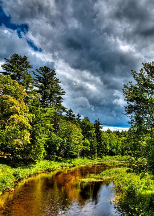 Adirondack's Greeting Card featuring the photograph The Meandering Moose River by David Patterson