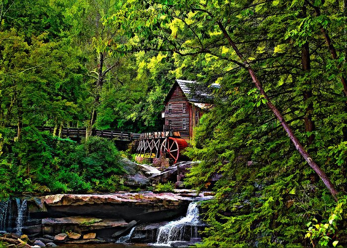 West Virginia Greeting Card featuring the photograph The Mill Paint 2 by Steve Harrington