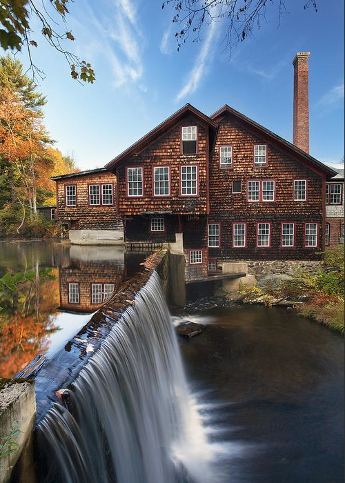 The Mills Greeting Card featuring the photograph The Mills by Eric Gendron