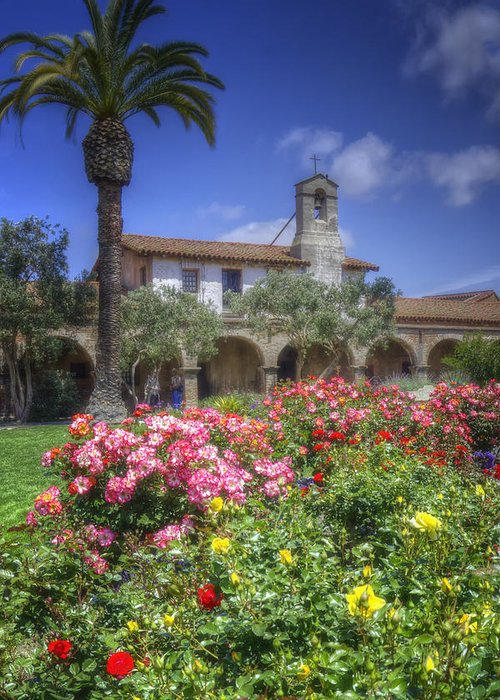 California Missions Greeting Card featuring the photograph The Mission by Joan Carroll