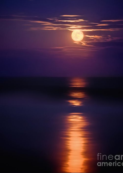 The Moon Is Just The Sun At Night Greeting Card featuring the photograph The Moon Is Just The Sun At Night by Mark Miller