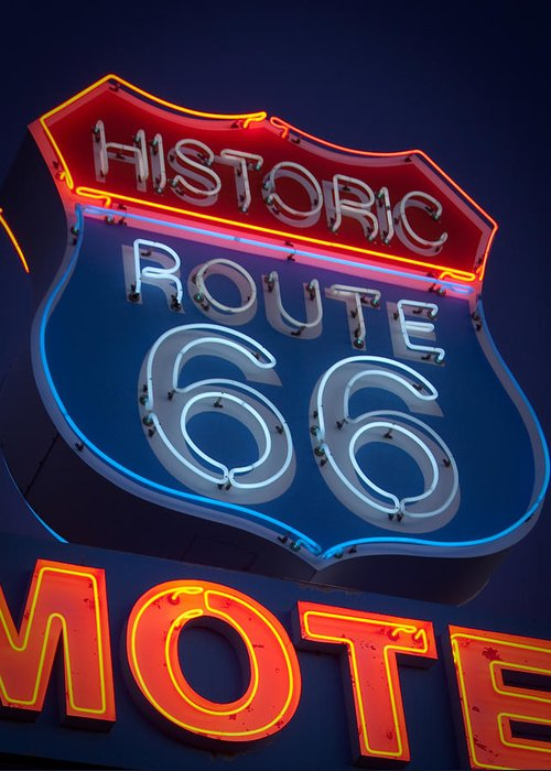 Route 66 Greeting Card featuring the photograph The Mother Road by Tony Santo