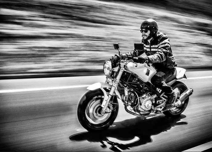 Motorbike Greeting Card featuring the photograph The Motorcycle Diaries by Alejandro Fern??ndez Mu??oz