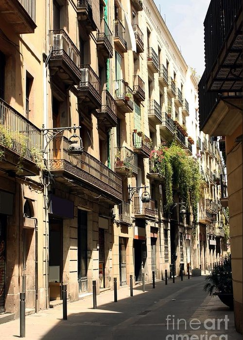 Barcelona Greeting Card featuring the photograph The Neighborhood by Sophie Vigneault
