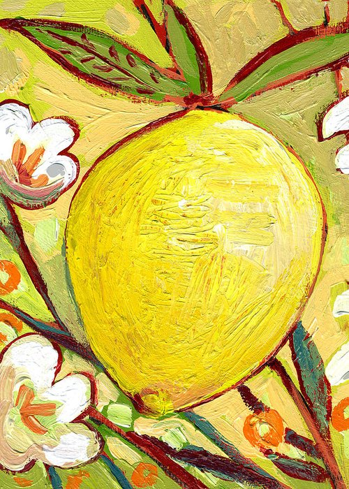 Lemon Greeting Card featuring the painting The NeverEnding Story No 2b by Jennifer Lommers