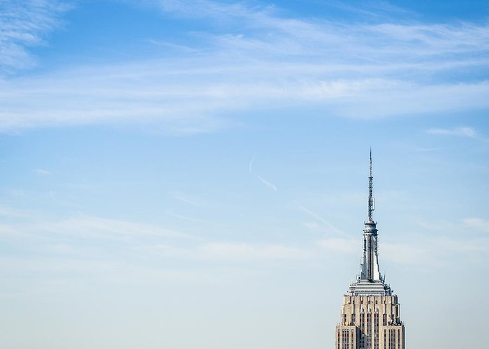 Lower Manhattan Greeting Card featuring the photograph The New York City Empire State Building by Franckreporter